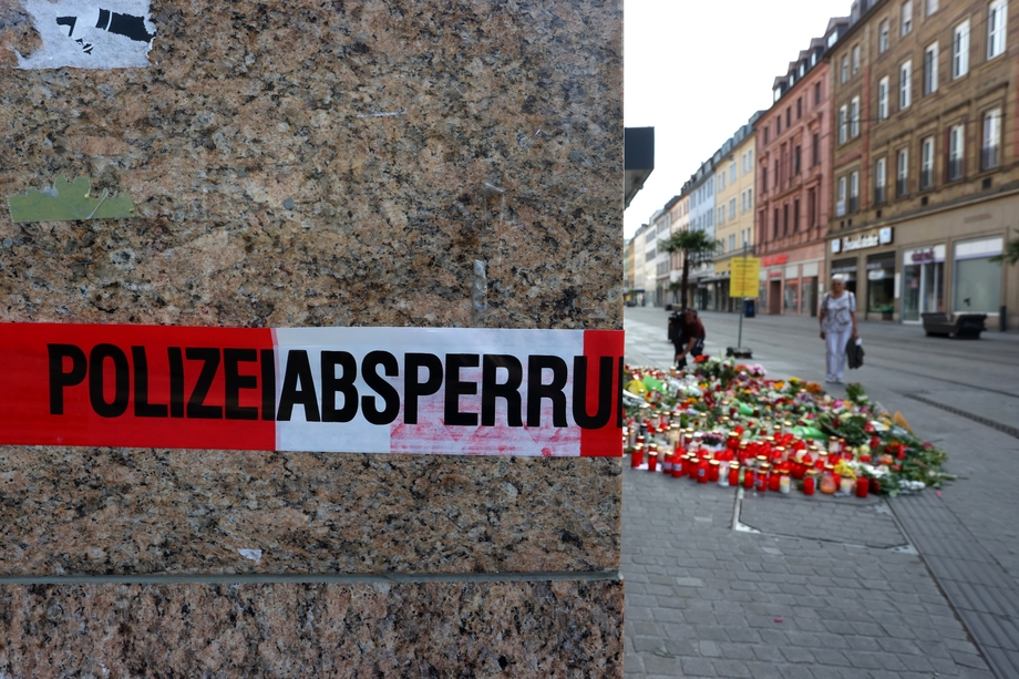 Вюрцбург через два дня после ножевого нападения сомалийца на прохожих.