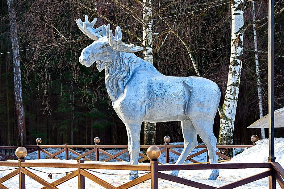 Памятник лосю
