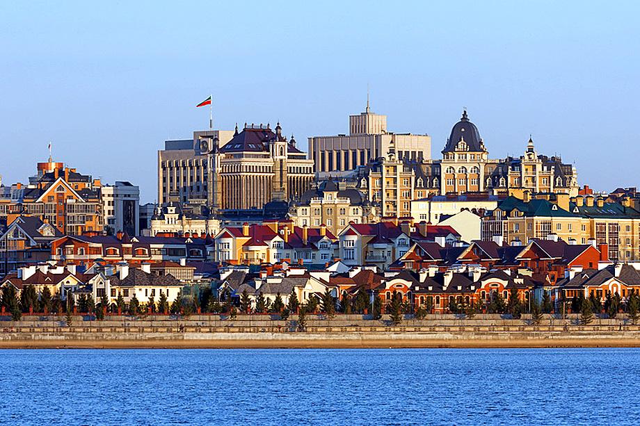 Казань. Вид на город с северного берега реки Казанки