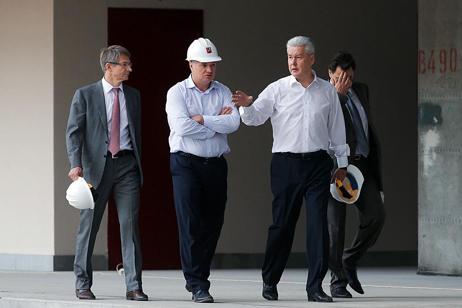Марат Хуснуллин и мэр Москвы Сергей Собянин (на переднем плане слева направо)