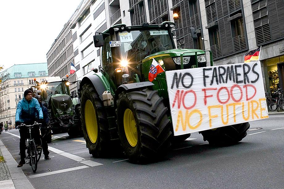 Фермеры на акции протеста
