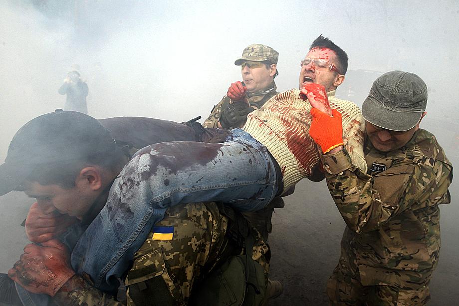 Учения по тактической медицине в Киеве