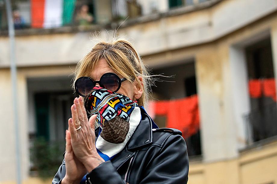 Жители Рима на карантине из-за вспышки коронавируса COVID-19