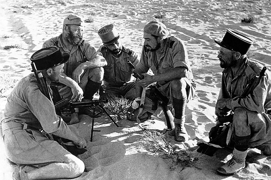 Бойцы Иностранного легиона в Ливии, 1943 год