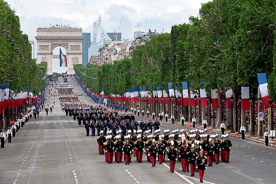 Солдаты Иностранного легиона на параде в честь Дня взятия Бастилии
