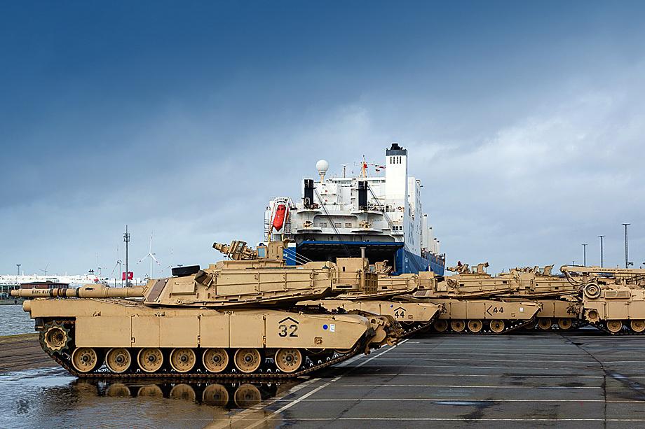 Defender Europe 20. Разгрузка военной техники