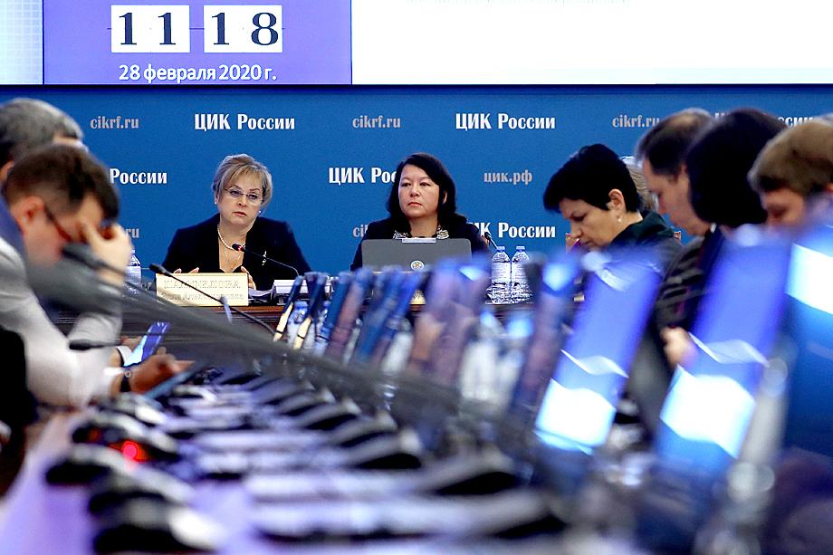 Заседание ЦИК РФ о проведении голосования по изменениям в Конституции РФ