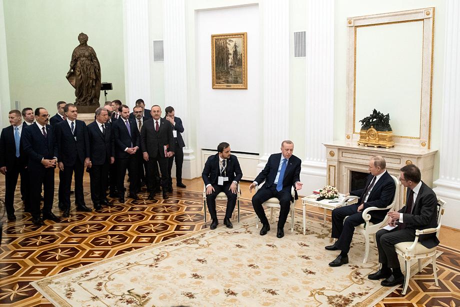 Встреча Владимира Путина и Реджепа Тайипа Эрдогана в Москве. 5 марта 2020 года