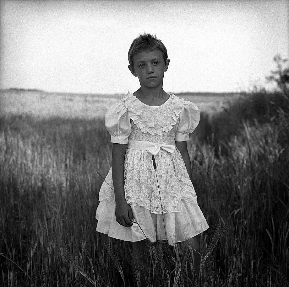Валентина в белом, Брянская область, 2008 год