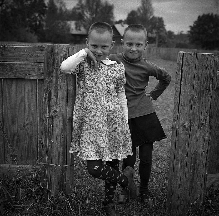 Даша и Маша. Брянская область, 2005год