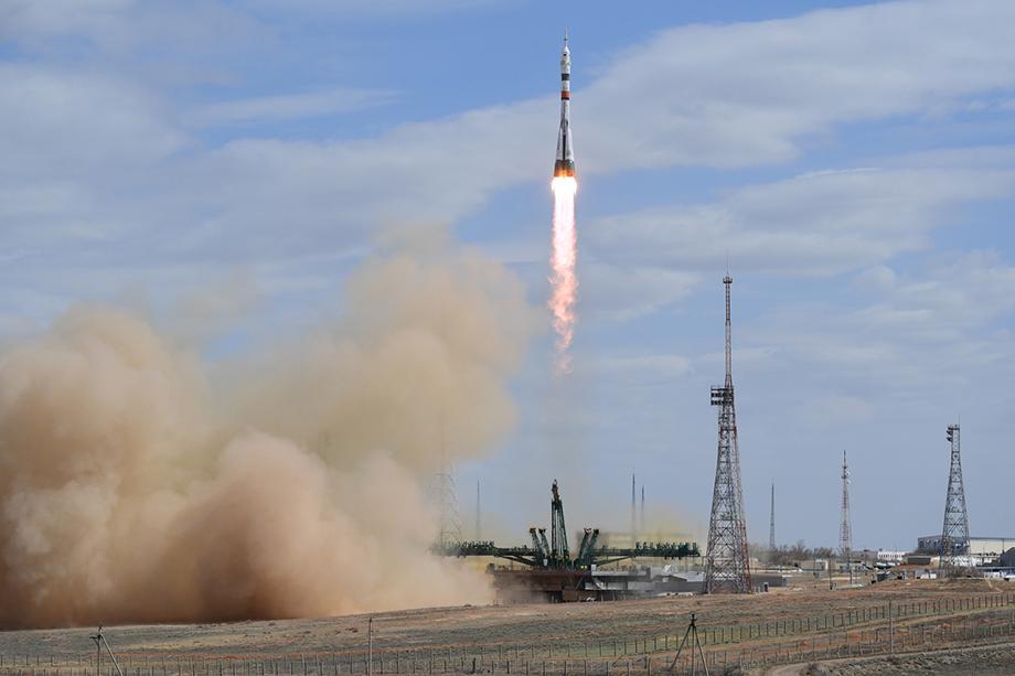 Пуск ракеты-носителя «Союз 2.1а» с пилотируемым кораблем «Союз МС-16» состоялся 9 апреля 2020 года