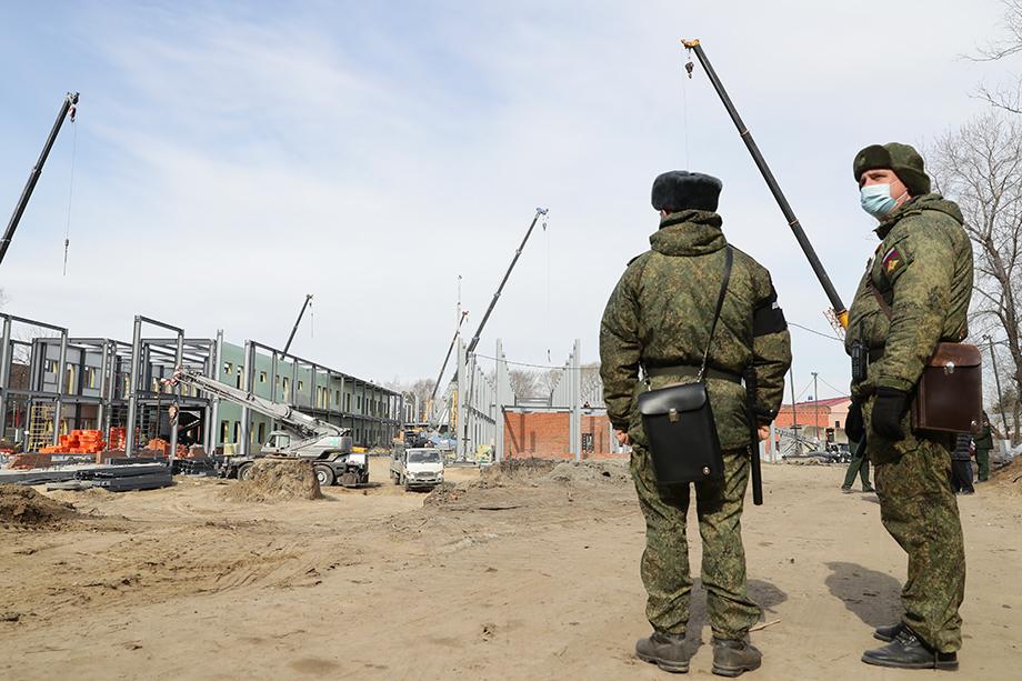 Строительство ММЦ на 160 мест на территории военного госпиталя в Новосибирске.