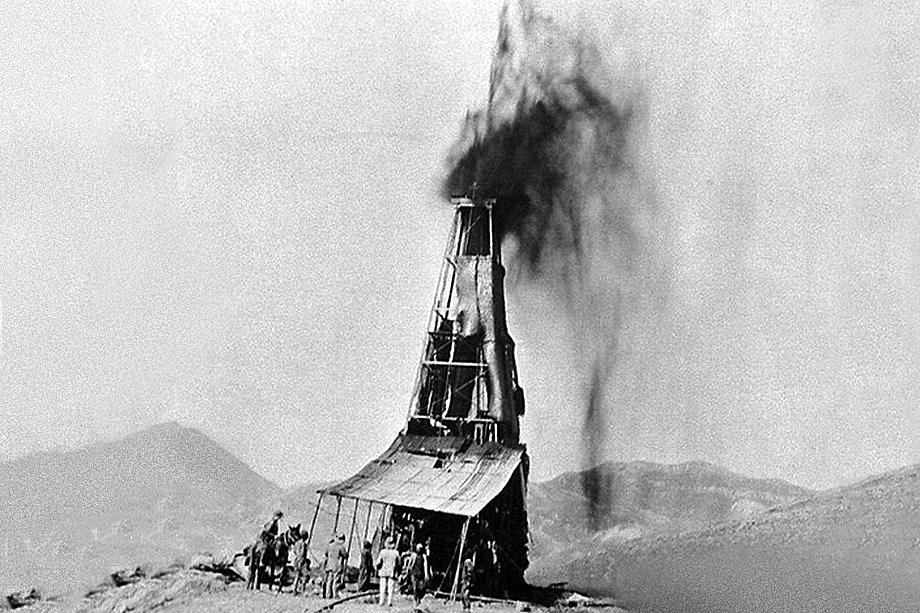 Нефтяное месторождение в Саудовской Аравии. Первая половина XX века.