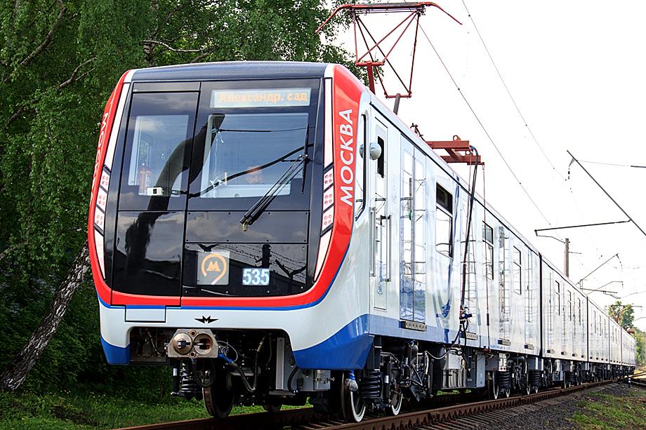 Вагоны метро серии «Москва».