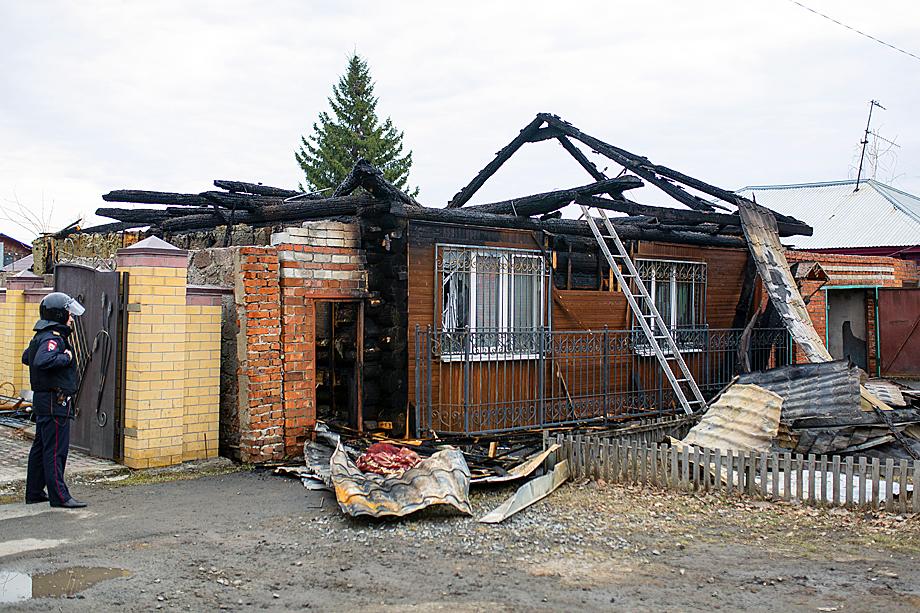 Частный дом, где находились вооружённые террористы. 13 апреля 2019 года.