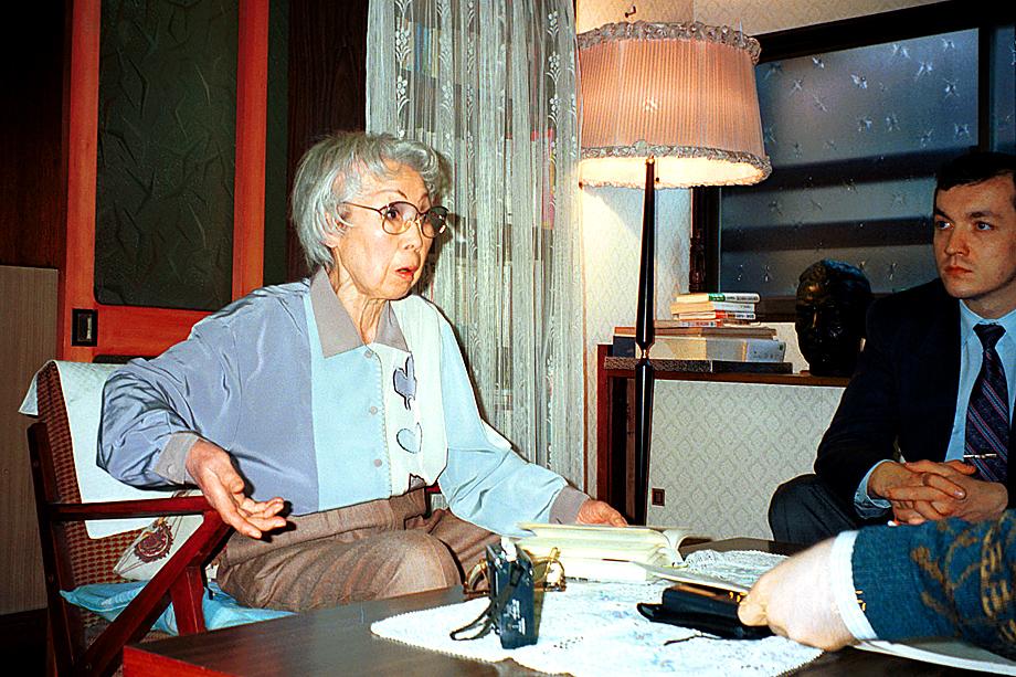 Ханако Исии, жена Рихарда Зорге. 1995 год.