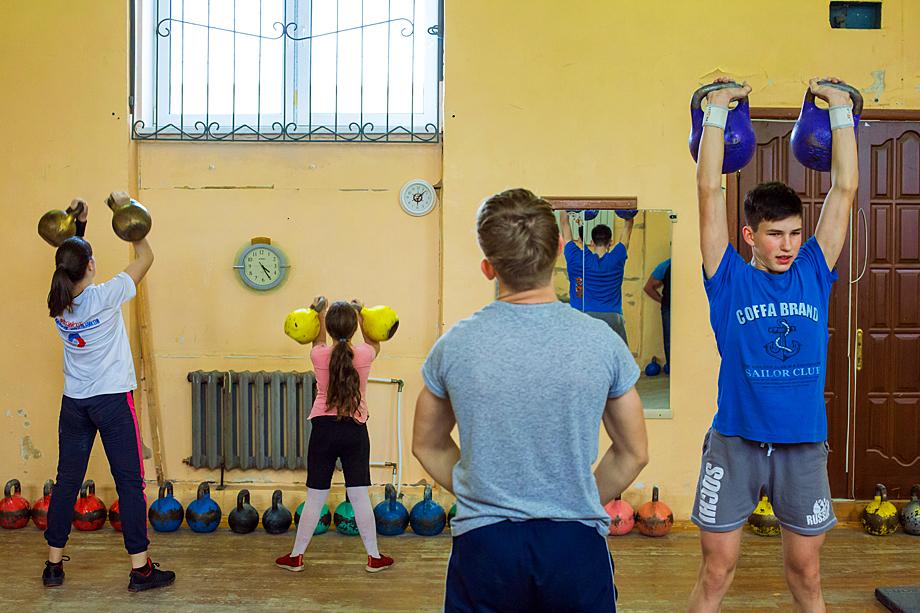 Секция гиревого спорта в Нижнем Тагиле.