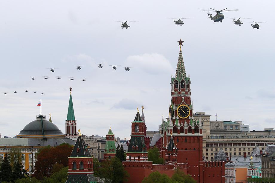 Авиапарад над Красной площадью, Москва