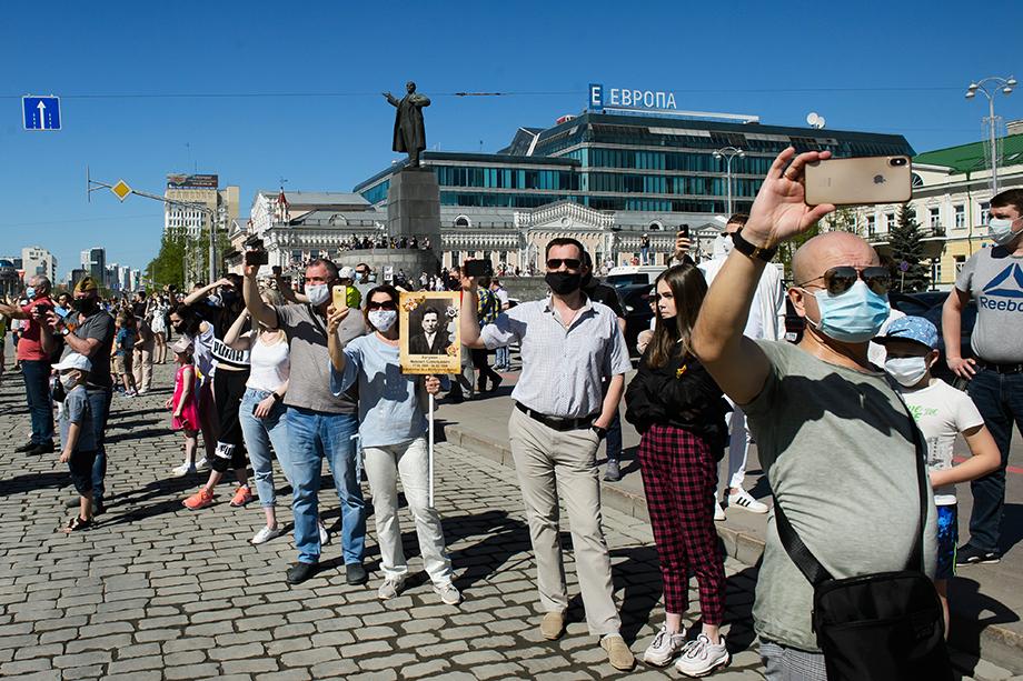 Парад пришли смотреть участники несостоявшегося «Бессмертного полка».