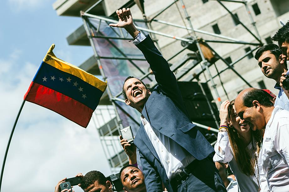 Самопровозглашённый лжепрезидент Венесуэлы Хуан Гуайдо.
