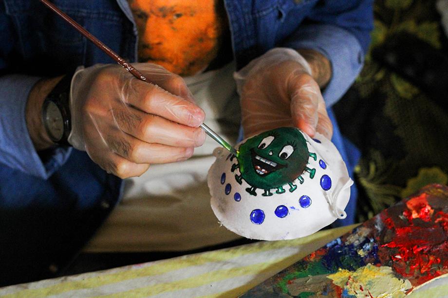 Акция палестинских художников «Искусство во время коронавируса». Март 2020 года.