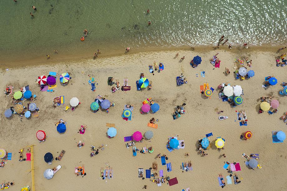 Пляжи в Греции.