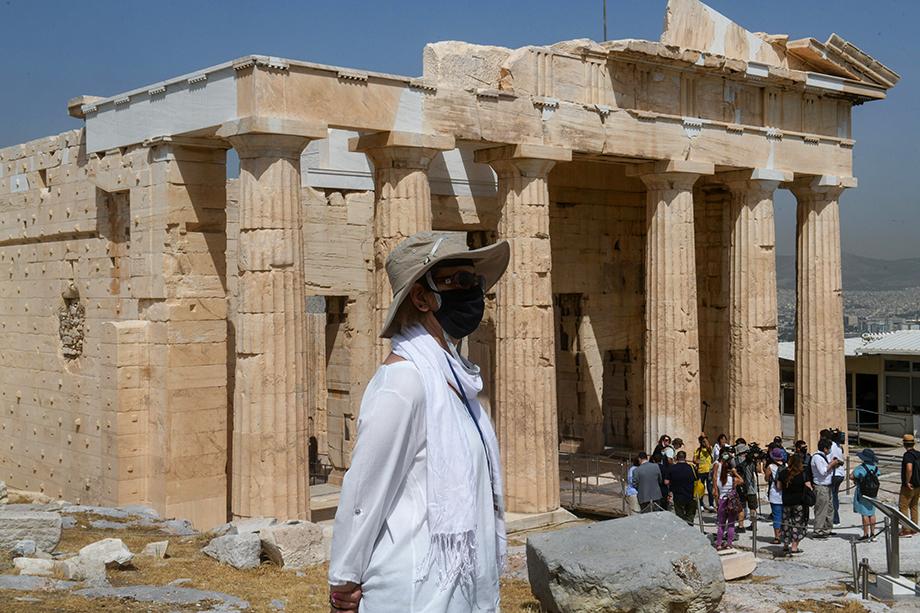 Акрополь в городе Афины.