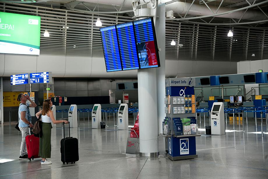 Аэропорт Элефтериос Венизелос в Афинах.