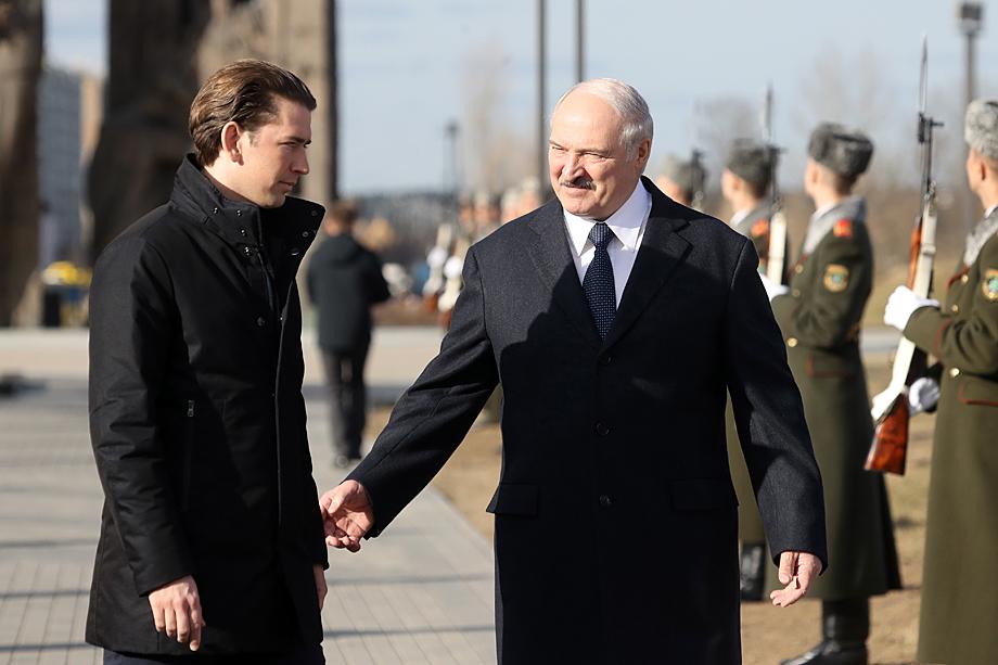 Визит канцлера Австрии Себастьяна Курца в Белоруссию.