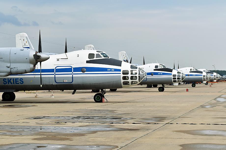 Флот ВВС России «Открытое небо» базируется в Кубинке. 2017 год.