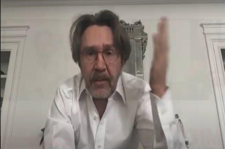 Сергей Шнуров на онлайн-митинге
