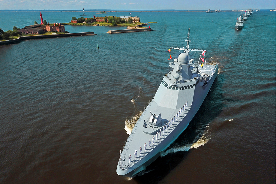 Фрегат «Адмирал Горшков», с которого был произведён первый испытательный пуск «Циркона».