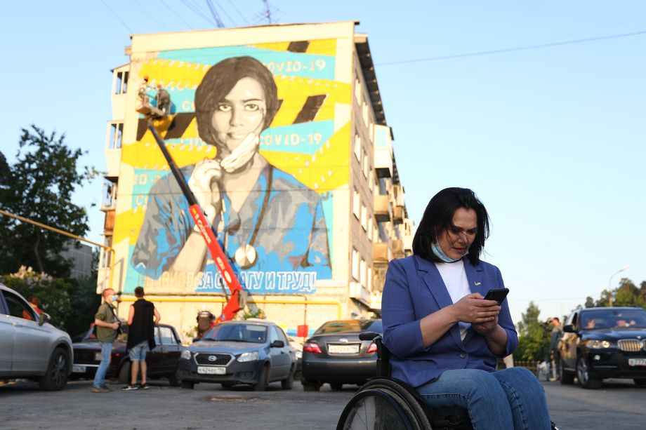 Автором идеи граффити в Екатеринбурге является сопредседатель регионального штаба ОНФ Анастасия Немец.