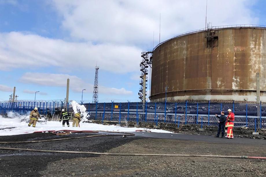 В результате ДТП пожар распространился на территорию 350 квадратных метров ТЭЦ-3.