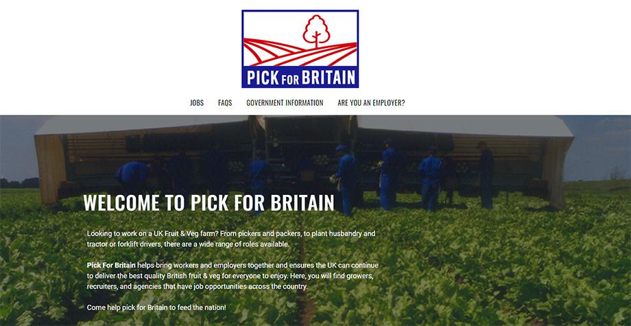 Министр окружающей среды, продовольствия и сельского хозяйства Великобритании Джордж Юстис: «Мы запустили Pick For Britain, интернет-сайт, позволяющий людям в режиме онлайн проверять имеющиеся свободные вакансии».