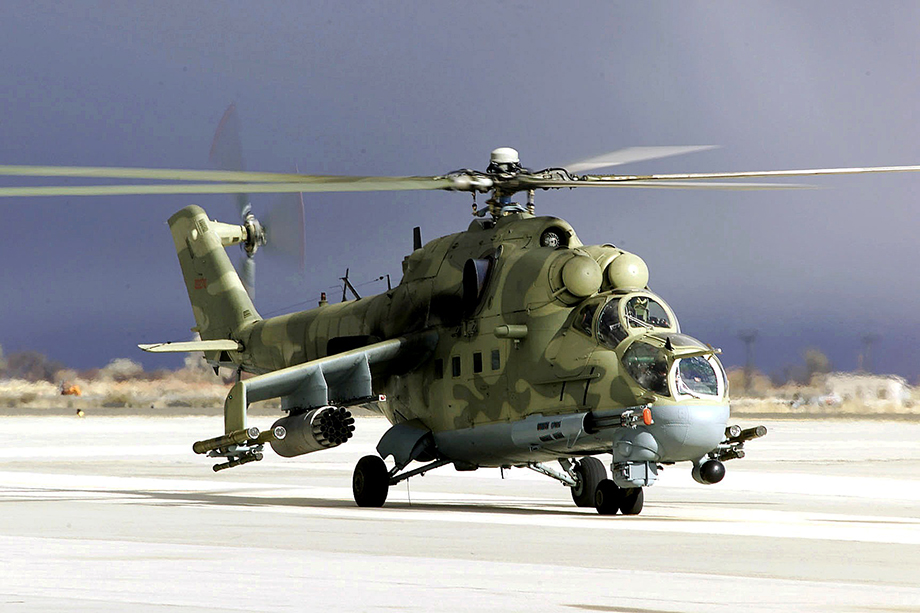 VTS Aviation обучает пилотов ВВС США управлению вертолётами Ми-24.