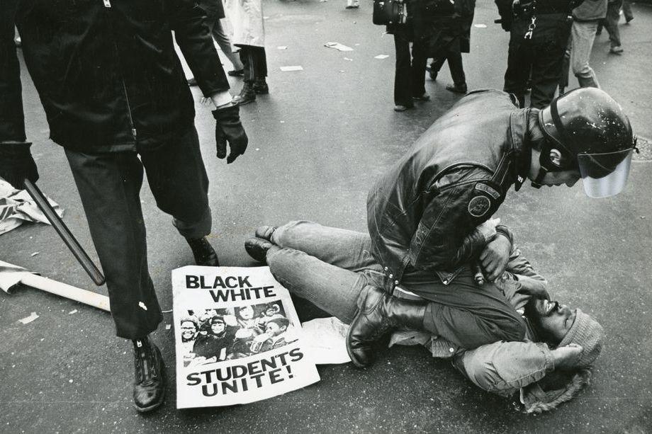 14 декабря 1974 года. Бостон, штат Массачусетс. Марш за интеграцию.