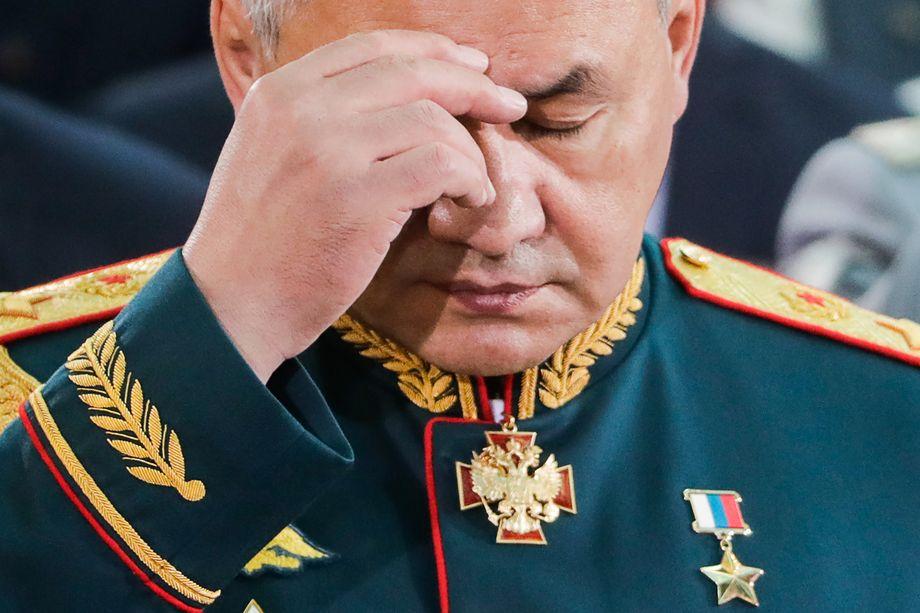 Сергей Шойгу на церемонии освящения храма Вооружённых сил России.