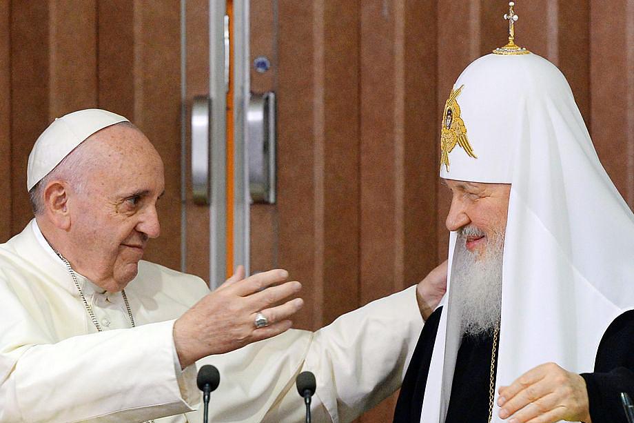 Знаковая встреча Папы Римского Франциска с главой РПЦ патриархом Кириллом в Гаване.