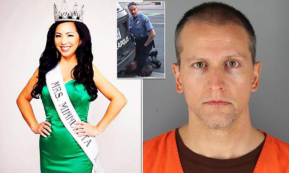Дерек Шовин, полицейский, обвиняемый в убийстве Джорджа Флойда, и его супруга Келли.