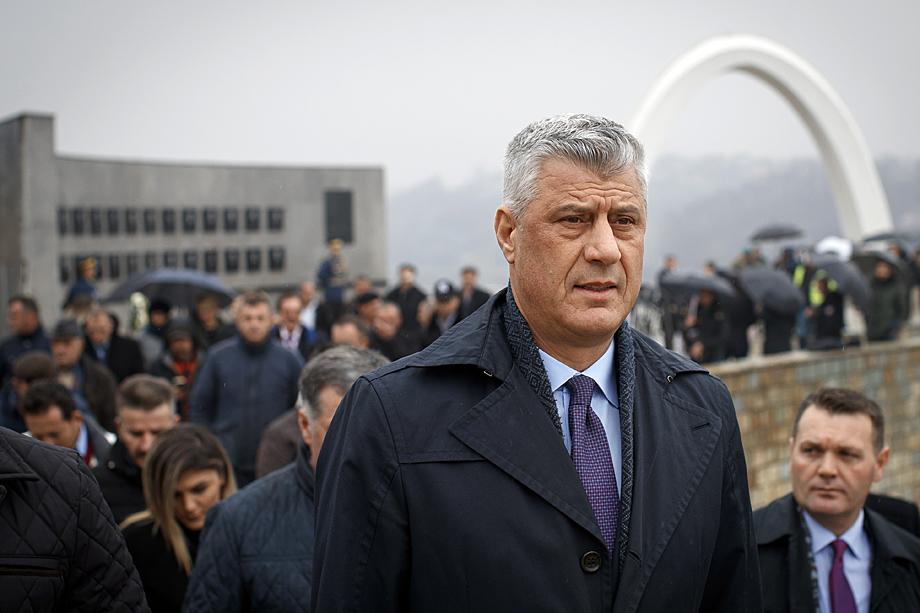 Лидера непризнанного Косова Хашима Тачи обвинили в совершении военных преступлений.