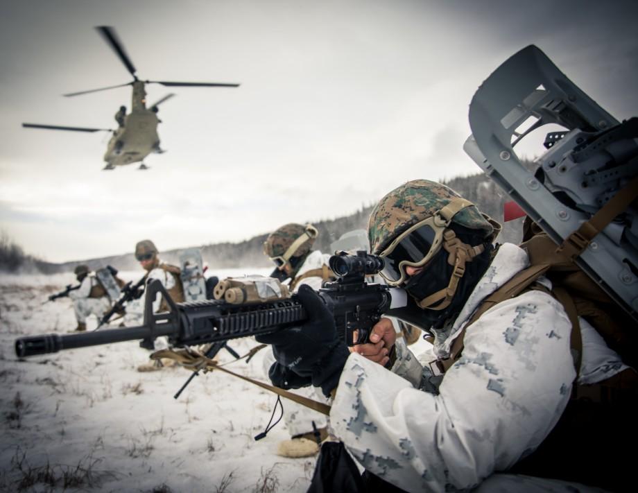 Арктические военные учения США.
