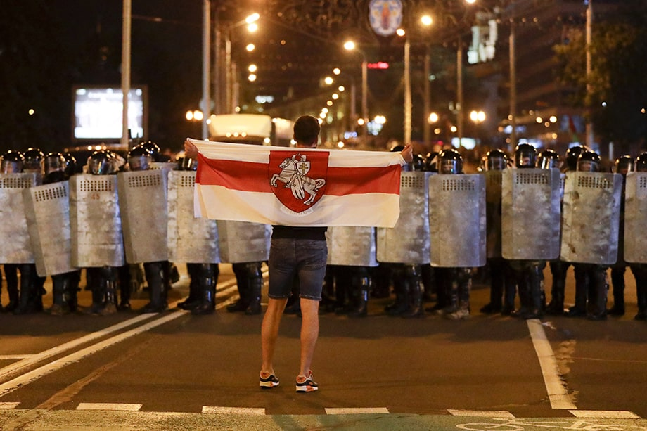 На улицах Минска уже сейчас много сотрудников милиции.