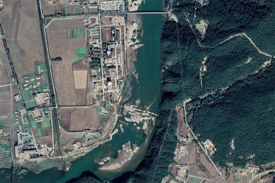 Снимок со спутника до затопления.