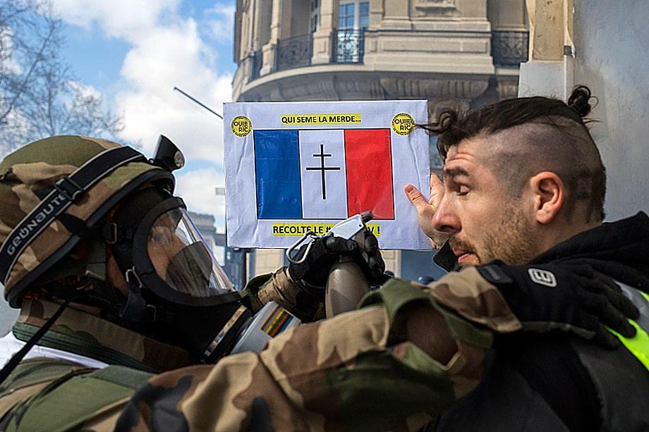 Акция «Жёлтые жилеты». Париж.