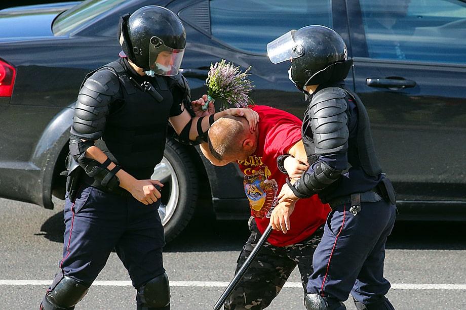 Протесты против результатов президентских выборов. Минск.