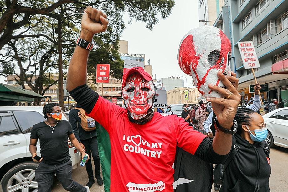 В Кении BLM-протесты прошли довольно спокойно.