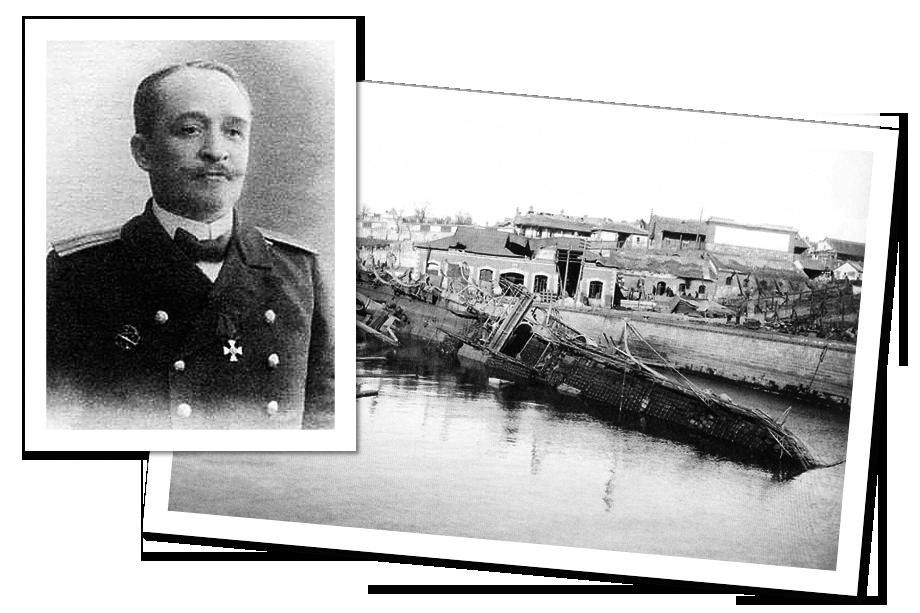 «Амур» был потоплен в декабре 1904 года. На фото слева – командир легендарного минного заградителя Фёдор Иванов.