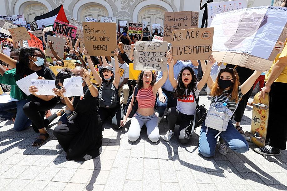 BLM практически не затронул Северную Африку. Лишь в Тунисе было единственное небольшое выступление.
