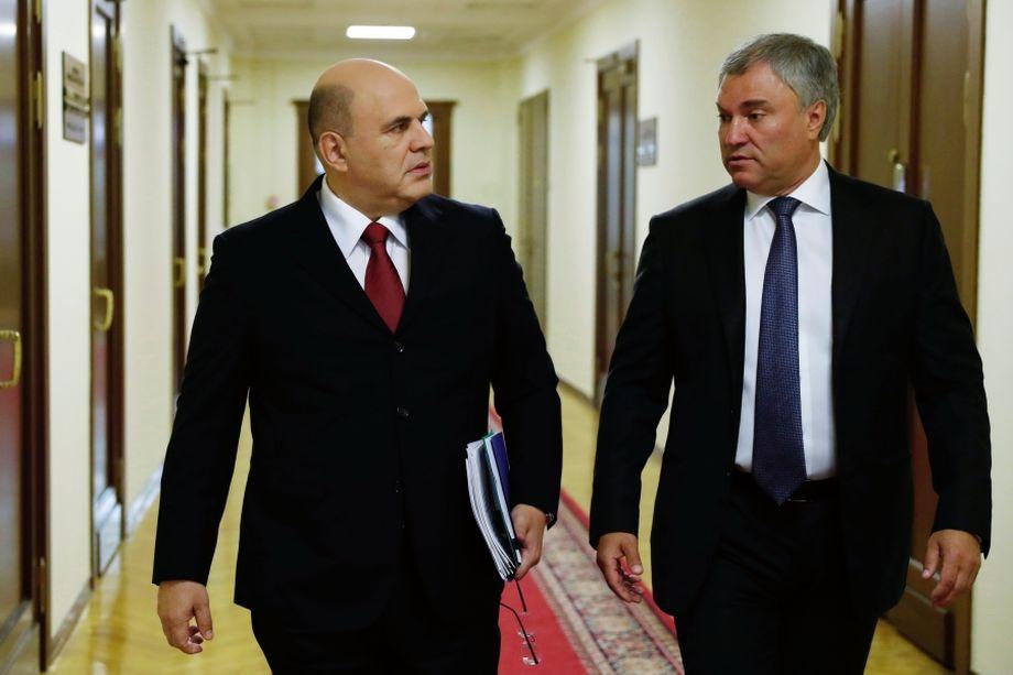Володин начал сближаться с Михаилом Мишустиным.